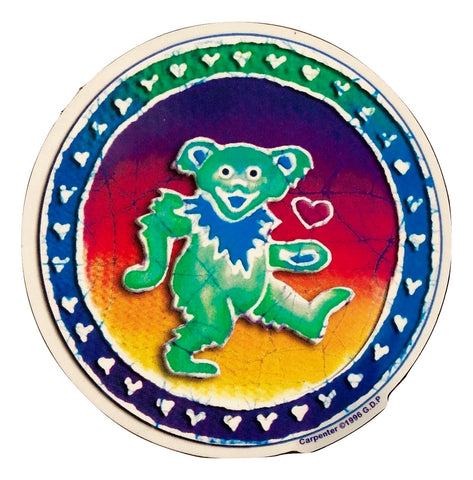 Grateful Dead Green Dancing Bear Indoor/Outdoor Sticker