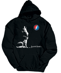 Grateful Dead Wolf Hoodie With Pouch