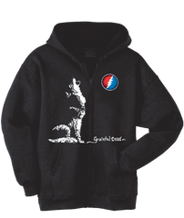 Grateful Dead Wolf Zip Up Hoodie With Pouch