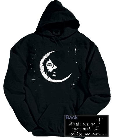 Grateful Dead Jerry Moon Hoodie with Pouch- Free Fast Shipping