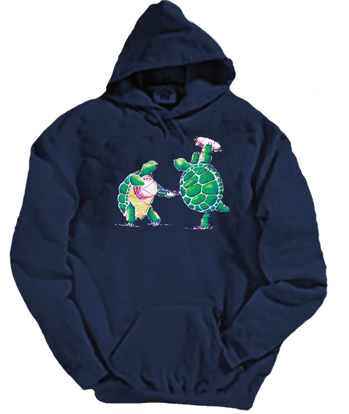 Grateful Dead Terrapin Station Turtles - Hoodie with Pouch