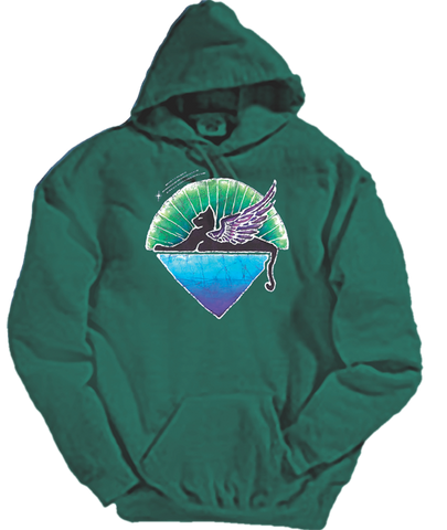 Sale Grateful Dead Winged Cat Hoodie with Pouch- Free Shipping