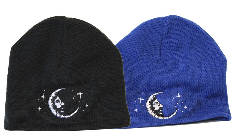 Jerry Garcia Jerry Moon Beanie Hat - Black or Royal