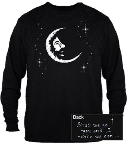 Grateful Dead Jerry Garcia Moon Long Sleeve T Shirt - Black