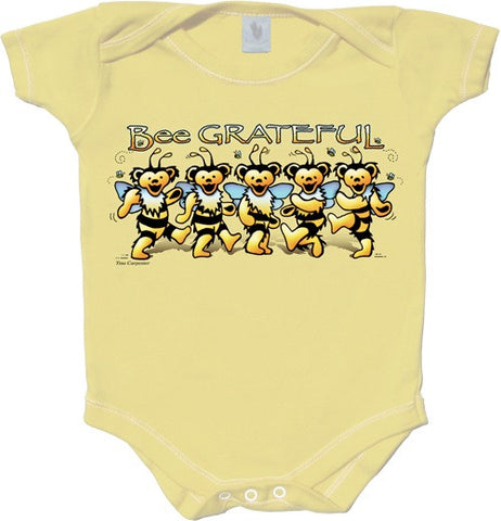 Grateful Dead Bee Grateful Infant Onesie