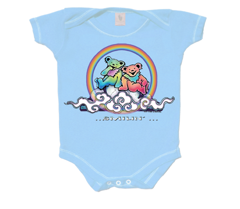Smilin' Bears on a Cloud Infant Onesie - Blue