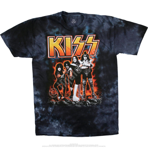 KISS HOTTER THAN HELL TIE-DYE T-SHIRT