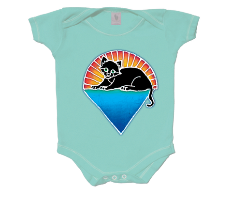 Grateful Dead Kitten Under The Stars Infant Onesie