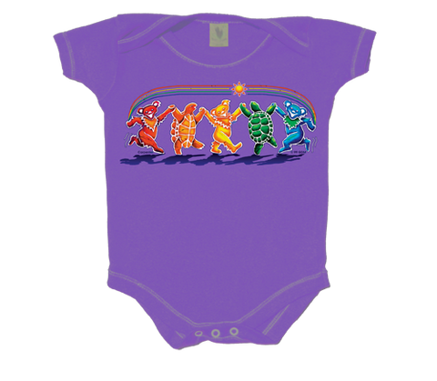 Grateful Dead Rainbow Critters Infant Onesie