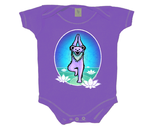 Grateful Dead Yoga Dancing Bear Infant Onesie