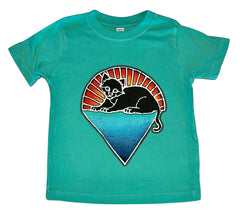 Kittens Under the Stars on a Green Toddler T Shirt