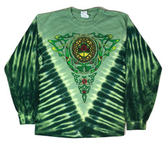 Grateful Dead Celtic Knot Long Sleeve Tie Dye T Shirt