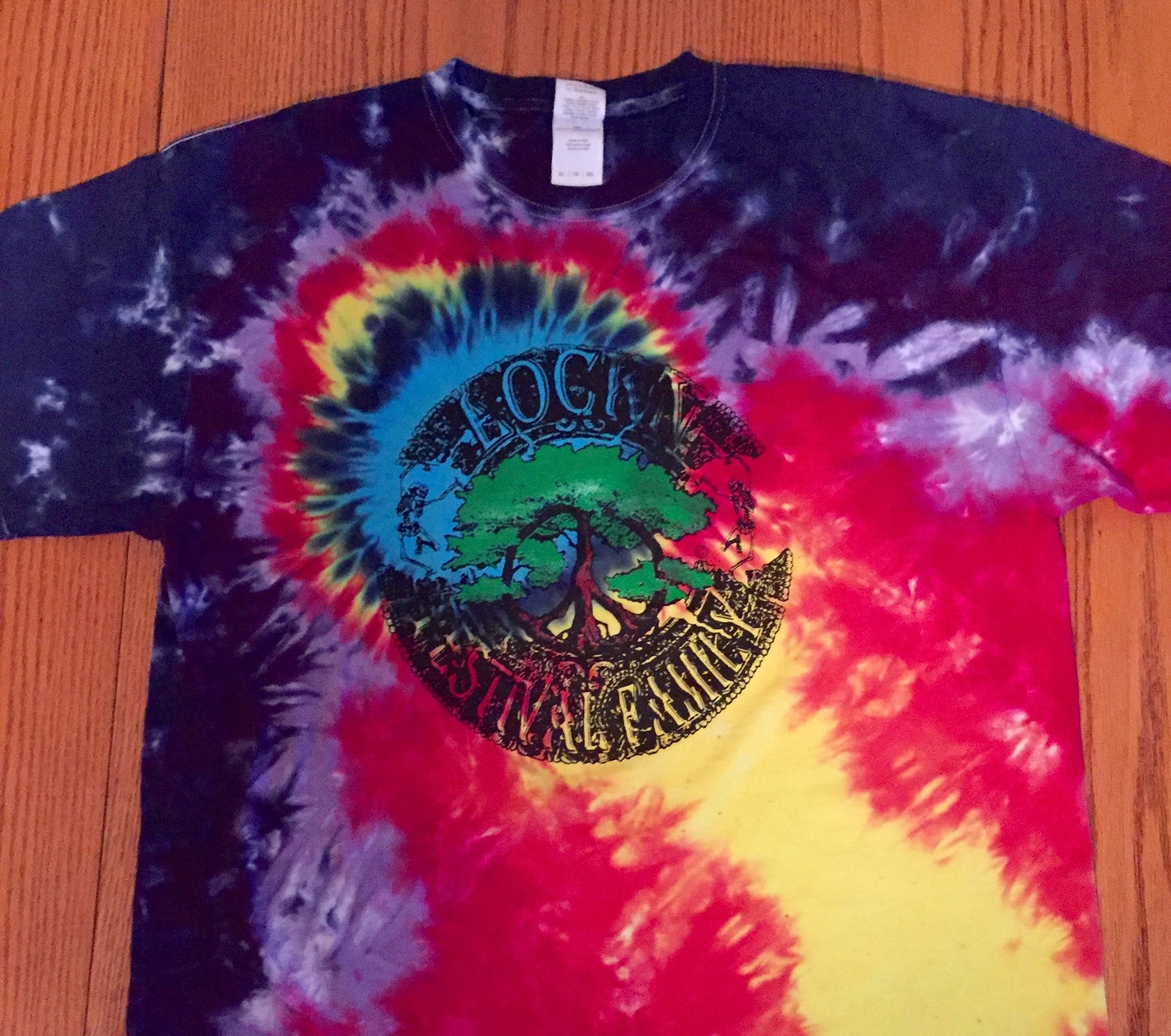 Lockn' Festival Family Tie Dye T Shirt - 2 Sided Print