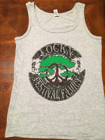 Lockn' Festival Family Grey Solid Color Womens Tank 2 Sided Print