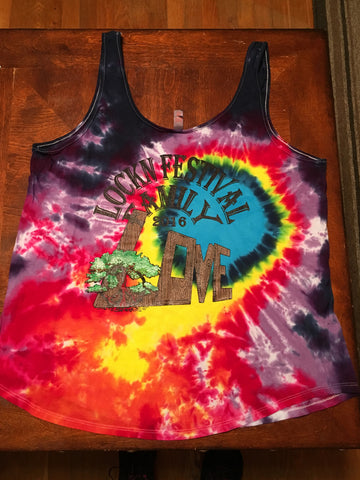 Lockn' Festival Family Ladies Tie Dye Tank Top - 2 Sided Print