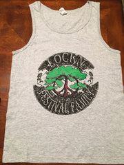 Lockn' Festival Family Grey Solid Color Mens Tank 2 Sided Print