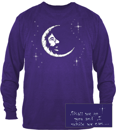 Grateful Dead Jerry Garcia Moon Long SleeveT Shirt - Purple