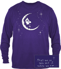 Grateful Dead - Jerry Garcia Moon Long SleeveT Shirt - Purple