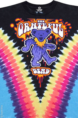 Grateful Dead Dancing Bear Tie Dye T Shirt