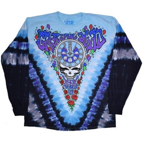 Grateful Dead - Midnight Hour - Long Sleeve Tie Dye T Shirt