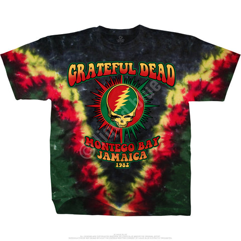 Grateful Dead Montego Bay, Jamaica 1982 Tie Dye T Shirt