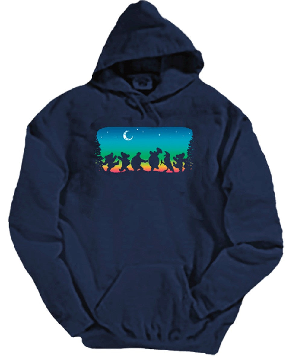 Grateful Dead Moondance - Hoodie with Pouch- Free Shipping