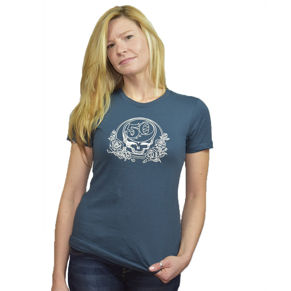 Grateful Dead Womens 50th Teal T Shirt