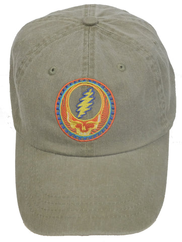 Grateful Dead Orange Sunshine Hat - Tan