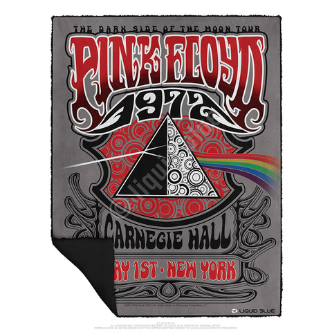 "Pink Floyd Carnegie Hall Fleece Throw Blanket 50""x 60"""
