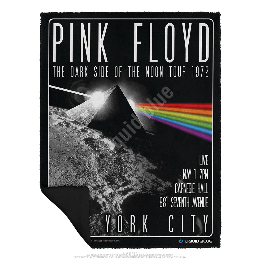 "Pink Floyd Dark Side of the Moon Fleece Throw Blanket 50""x 60"""