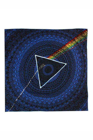 Pink Floyd Blue Dark Side Of The Moon Shadow Bandana