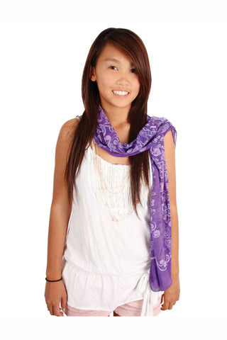 Grateful Dead Dancing Bear Long Fashion Scarf Purple