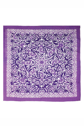 Grateful Dead Purple Dancing Bears Mandala Bandana