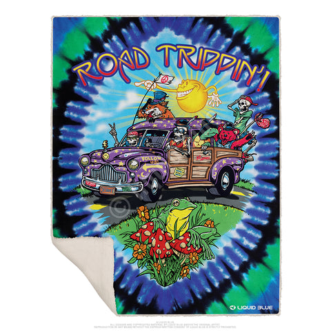 "Road Trippin' Fleece Throw Blanket 50""x 60"""