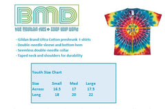 Grateful Dead Circle Bears Youth Tie Dye T Shirt