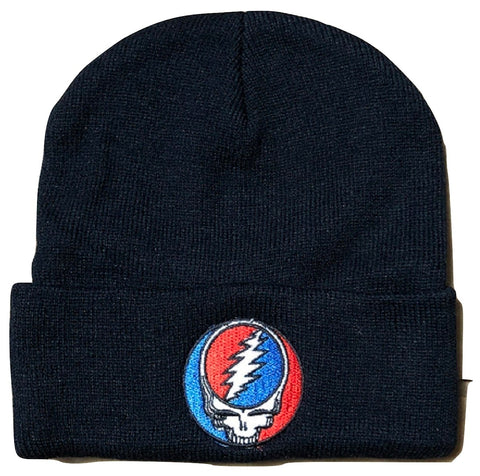 Grateful Dead Steal Your Face Navy Beanie Hat