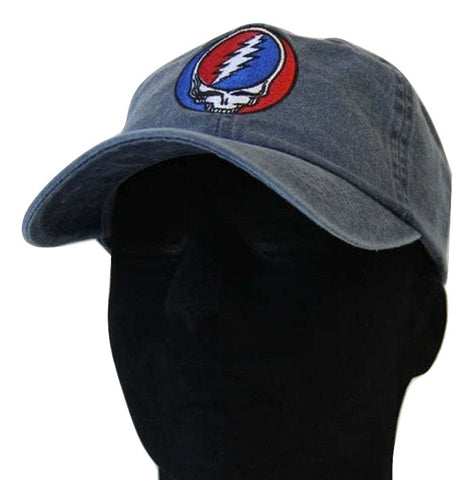 Grateful Dead Classic Steal your Face Baseball Cap - Denim
