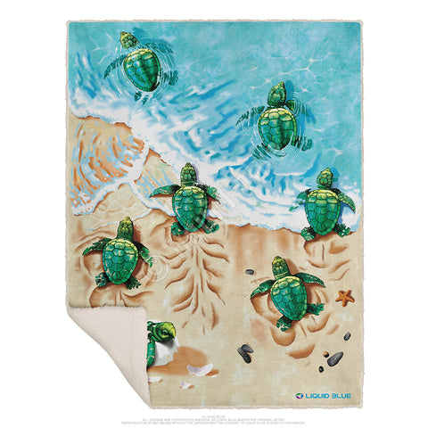 "Turtle Beach Fleece Throw Blanket 50""x 60"""
