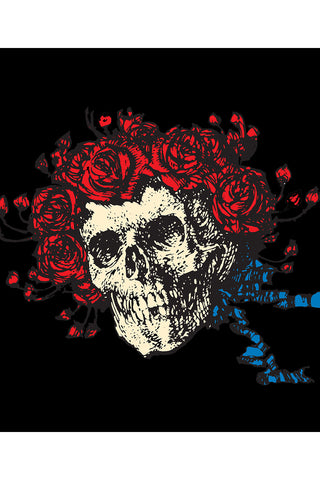 "Grateful Dead Bertha Skull & Roses Fleece Throw Blanket 50""x60"""