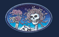 Grateful Dead - Skull & Roses Solid T Shirt