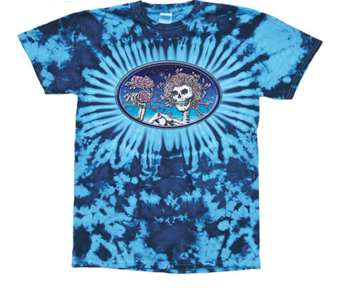 Grateful Dead Skull & Roses Tie Dyed T Shirt