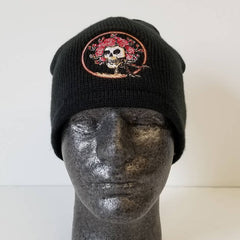 Grateful Dead Skull & Roses Beanie Hat - Black or Grey