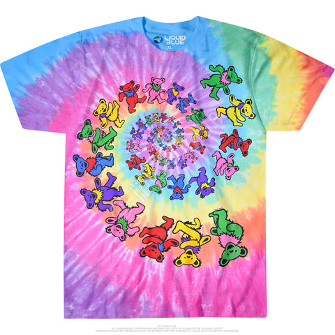 Grateful Dead - Spiral Dancing Bears Sizes S - 6XL