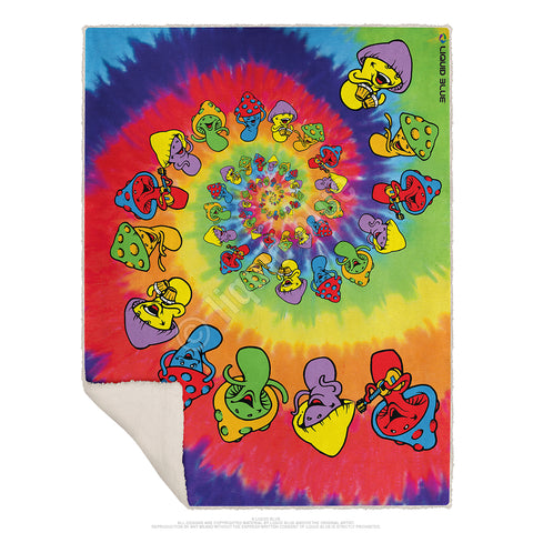 "Spiral Shrooms Fleece Throw Blanket 50""x 60"""