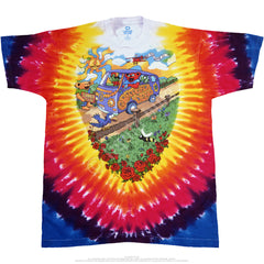 Grateful Dead Summer Tour Bus Tie Dye T Shirt