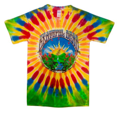 Sunrise Waterfall Short Sleeve Tie Dye T Shirt