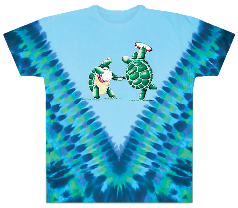 Grateful Dead Terrapin Station Dancing Turtles Tie Dye T Shirt