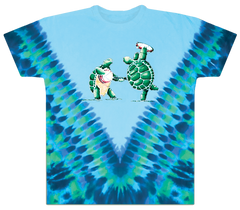 Grateful Dead Tie Dye Dancing Terrapin Turtles T Shirt
