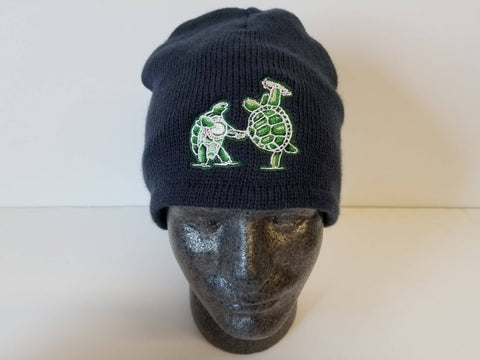Grateful Dead Terrapin Station on a Navy Beanie Hat