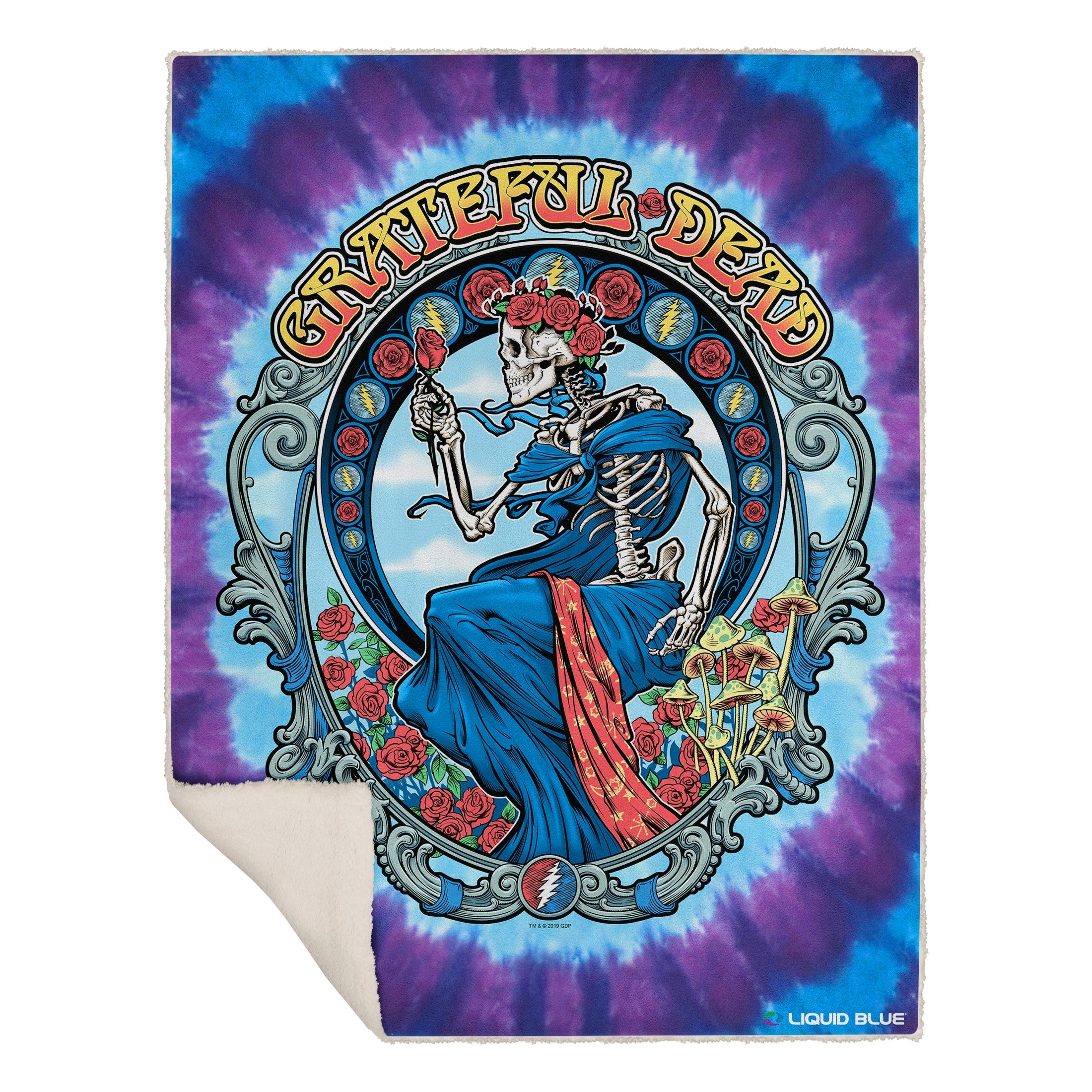 "Grateful Dead Vintage Bertha Fleece Throw Blanket 50""x 60"""